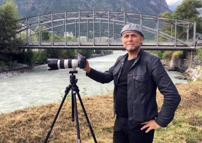Im Atelier in Sierre: Ein Rückblick von André Albrecht